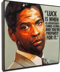 Denzel Washington Poster Plaque
