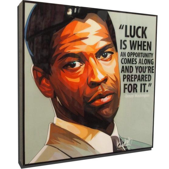 Denzel Washington Poster Plaque