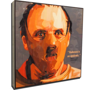 Hannibal Lecter Poster Plaque
