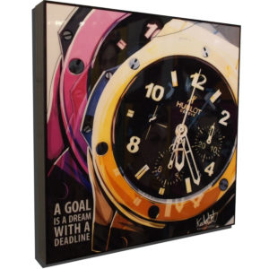 """Hubolt Inspired Plaque Mounted Poster """"A goal is a dream with a deadline."""""""