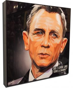 James Bond Daniel Craig Poster Plaque
