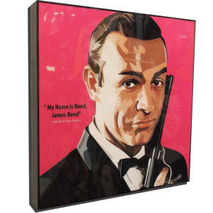 James Bond Sean Connery Poster Plaque