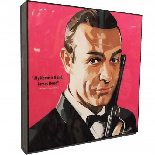 James Bond Sean Connery Poster Plaque