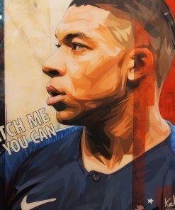 Kylian Mbappé Poster Plaque
