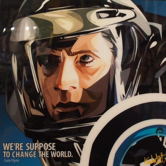 Sam Flynn Poster Plaque Tron