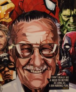 Stan Lee Poster Plaque
