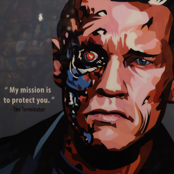 The Terminator Poster Plaque