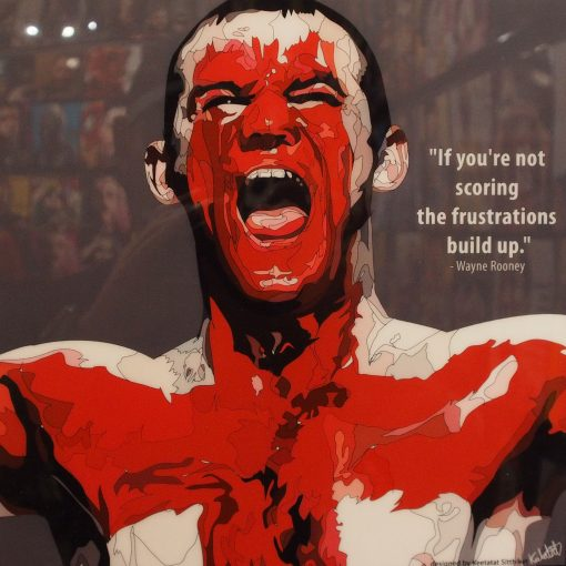Wayne Rooney Body Paint Poster