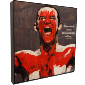 Wayne Rooney Body Paint Poster