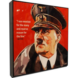 """Adolf Hitler Inspired Plaque Mounted Poster """"I use emotion for the…"""""""