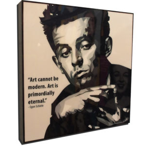 """Egon Schiele Inspired Plaque Mounted Poster """"Art cannot be modern…"""""""