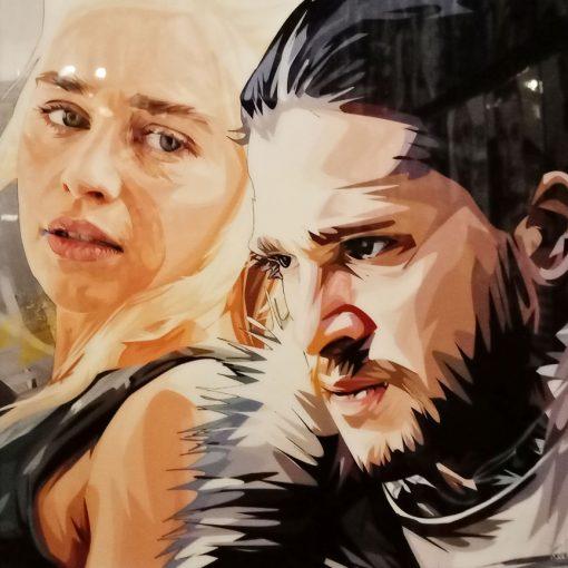Jon Snow Daenerys Targaryen poster plaque