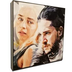 Jon Snow & Daenerys Targaryen Inspired Plaque Mounted Poster