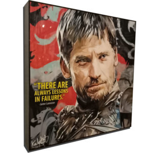 "Jaime Lannister Inspired Plaque Mounted Poster ""There are always lessons in failures"""
