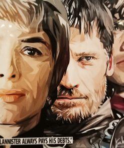Lannister Poster Plaque