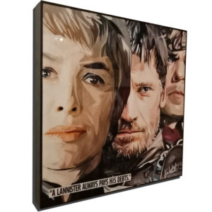 "Lannister Inspired Plaque Mounted Poster ""A Lannister always pays his debts"""