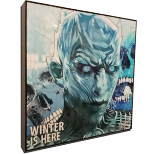 "The Night King Inspired Plaque Mounted Poster ""Winter is here"""