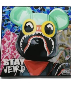 Bearbrick BAPE Pop Art Poster by Keetatat Sitthiket