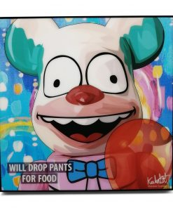 Bearbrick Krusty the Clown Pop Art Poster by Keetatat Sitthiket