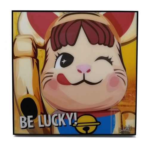 Bearbrick Gold Lucky Cat Pop Art Poster by Keetatat Sitthiket