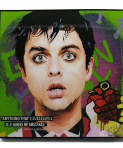 "Billie Joe Armstrong Pop Art Poster by Keetatat Sitthiket ""Anything that's successful is a series of mistakes"""
