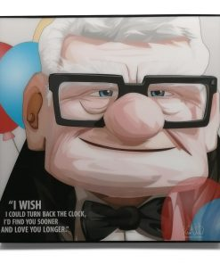 Carl Fredricksen Pop Art Poster from Movie Up, by Keetatat Sitthiket.