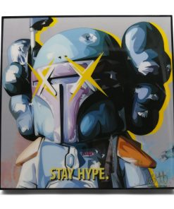 KAWS Star Wars Boba Fett Pop Art Poster by Keetatat Sitthiket