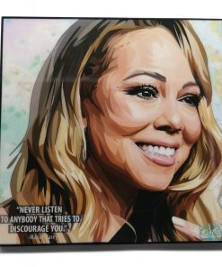 Mariah Carey Pop Art Poster by Keetatat Sitthiket