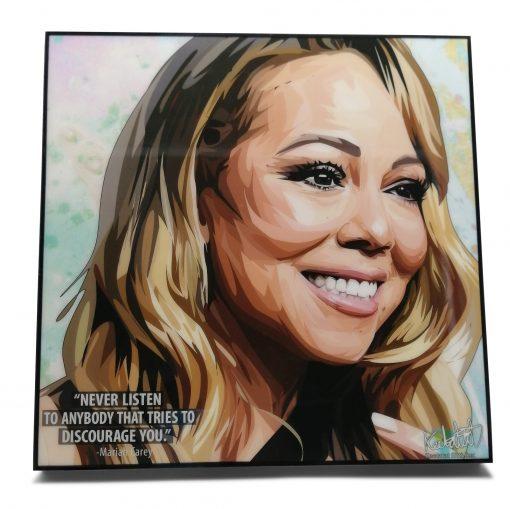 Mariah Carey Pop Art Poster by Keetatat Sitthiket