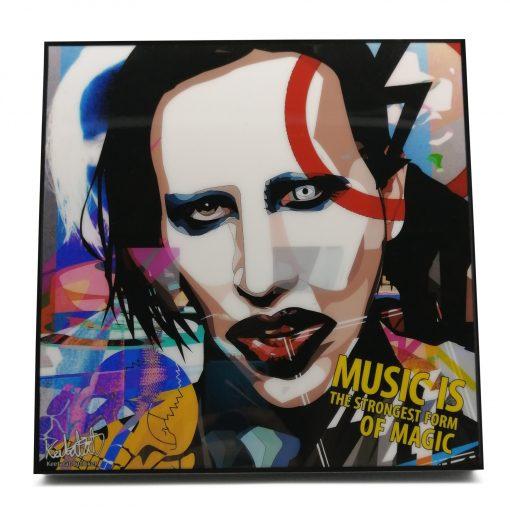 Marilyn Manson Pop Art Poster