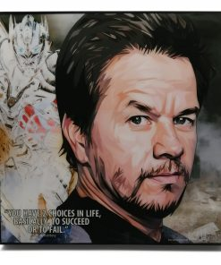 "Mark Wahlberg Pop Art Poster by Keetatat Sitthiket ""You have 2 choices in life, basically, to succeed or to fail"""