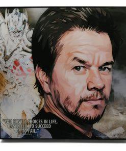 Mark Wahlberg Pop Art Poster by Keetatat Sitthiket