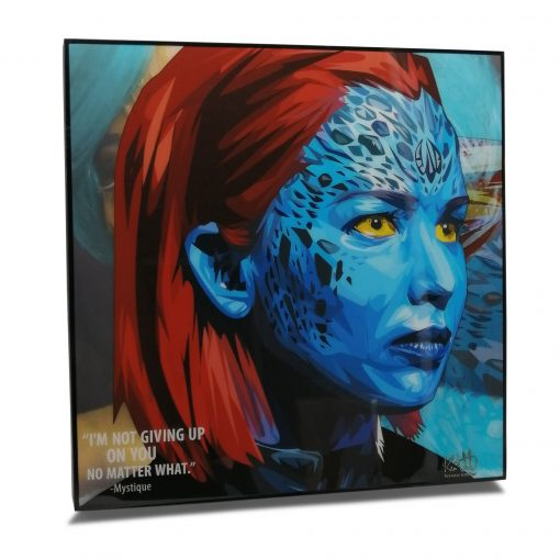 """Mystique Pop Art Poster by Keetatat Sitthiket """"I'm not giving up on you no matter what"""""""
