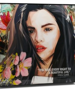 Selena Gomez Pop Art Poster by Keetatat Sitthiket