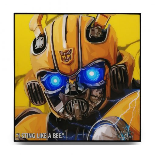 Transfomers Bumblebee Pop Art Poster by Keetatat Sitthiket