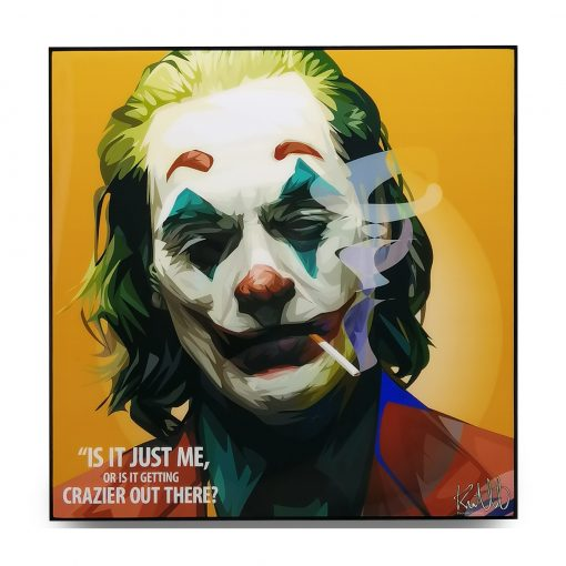 "Joker Pop Art Poster ""Is it just me or is it getting crazier out there?"""