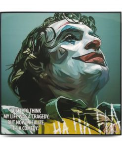 "Joker Pop Art Poster ""I used to think my life was a tragedy, but now I realize it's a comedy"""