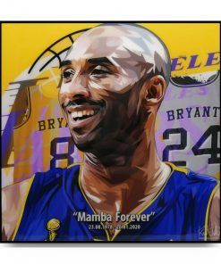 Kobe Bryant Pop Art Poster Mamba Forever by Keetatat Sitthiket