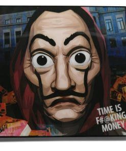 Salvador Dali Mask Money Heist Pop Art Poster by Keetatat Sitthiket